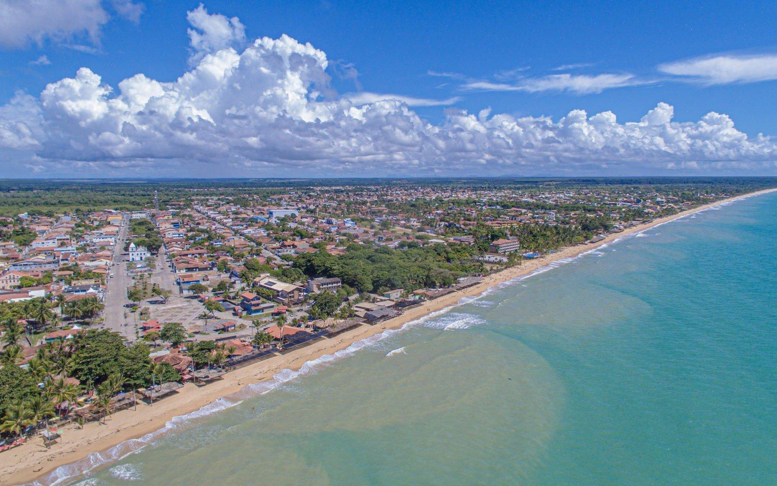 Foto aérea cidade de Prado 01
